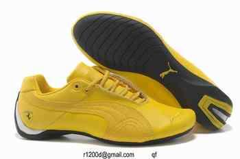 chaussures puma jaune homme